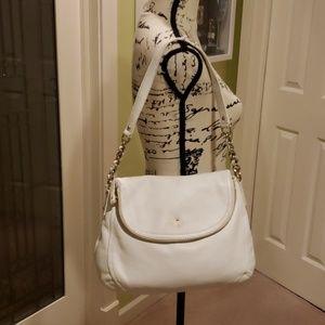 EUC Kate Spade white cobble hill penny flap bag